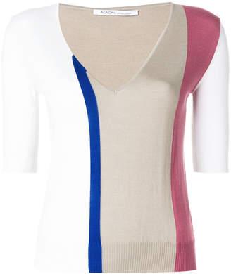 Agnona colour block sweater