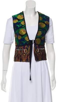 Dries Van Noten Tailored Jacquard Vest w/ Tags