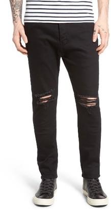 Men's Zanerobe Joe Blow Destroyed Denim Jeans $149 thestylecure.com