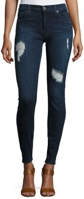 Hudson Krista Distressed Skinny Jeans $129 thestylecure.com