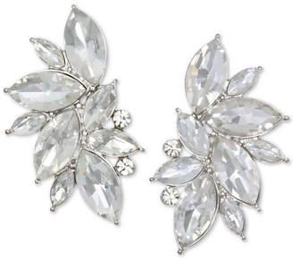 Badgley Mischka Silver-Tone Crystal Stud Earrings
