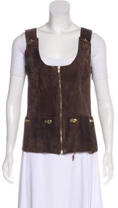 Anna Sui Leather Lock Vest