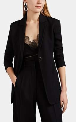 Victoria Beckham Women's Rib-Knit Wool One-Button Blazer - Black