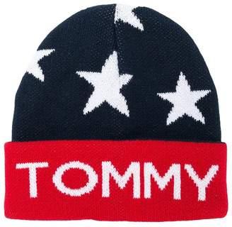 Tommy Hilfiger Junior star knitted logo beanie