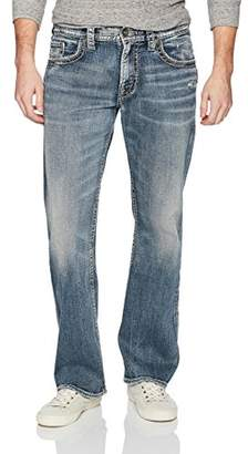 Silver Jeans Co. Men's Zac Relaxed Fit Straight Leg Jeans with Flap Pockets