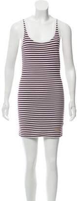 Fendi Striped Mini Knit Dress