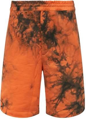 Helmut Lang Terry Tie-Dye Shorts