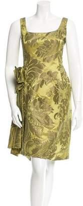 Oscar de la Renta Jacquard Bow-Accented Dress