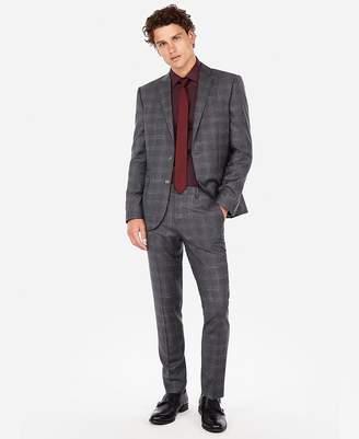 Express Slim Plaid Luxury 100% Italian Wool Suit Pant