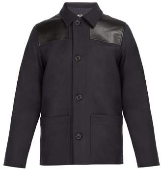 A.P.C. Donkey Wool Blend Field Jacket - Mens - Dark Navy