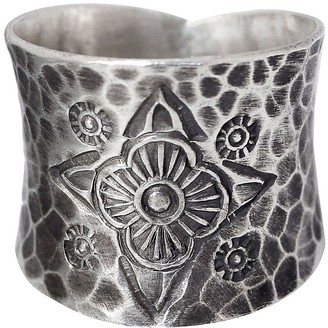 "Novica Artisan Crafted Sterling ""Dancing Flowers"" Ring"