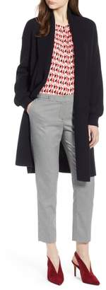 Halogen Blouson Sleeve Long Cashmere Cardigan