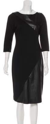 Alice + Olivia Leather Midi Dress