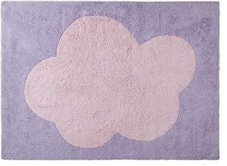 Camilla And Marc Happy Decor Kids Washable Rug (120 x 160 cm, Purple/Pink, Big Cloud)