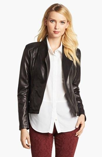 Calvin Klein Leather Moto Jacket
