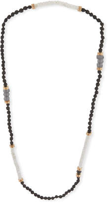 Neiman Marcus Akola Long Moonstone Beaded Necklace