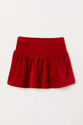 H&M Velour Skirt - Red