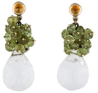 Multi-Stone Cluster Drop Earrings yellow Multi-Stone Cluster Drop Earrings