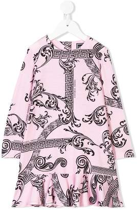 Versace baroque print sweat dress
