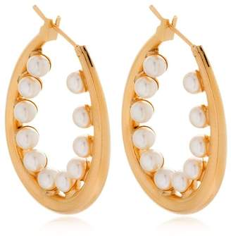 Anton Heunis Didah Oval Hoop Earrings