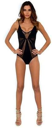 Dahlia Del Mar By Berjheny Black Maillot Swimsuit