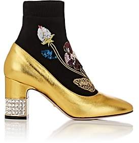 Gucci Women's Candy Sock Ankle Boots - Gold