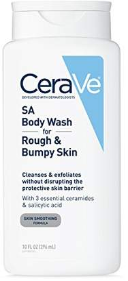 CeraVe Salicylic Acid Body Wash to Cleanse and Exfoliate Rough and Bumpy Skin - Non-Drying and Paraben-Free Body Wash