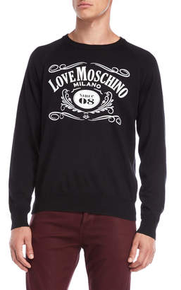 Love Moschino Since 08 Logo Raglan Sweater