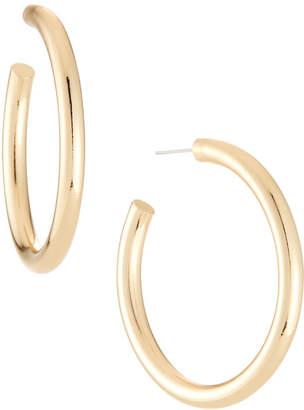 Lydell NYC Tube Hoop Earrings, Golden