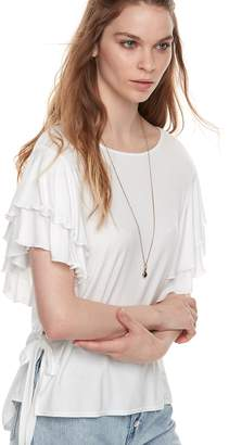 K Lab k/lab Double Ruffle Sleeve Tee