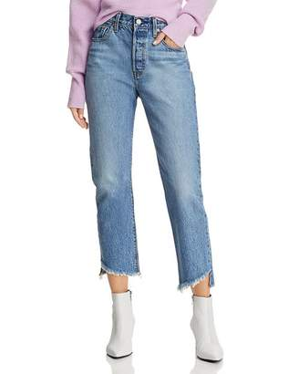 Levi's 501 Crop Straight Jeans in Call Me Crazy