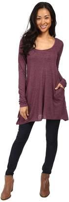 Allen Allen L/S Angled 2-Pocket Scoop Tunic Women's Long Sleeve Pullover