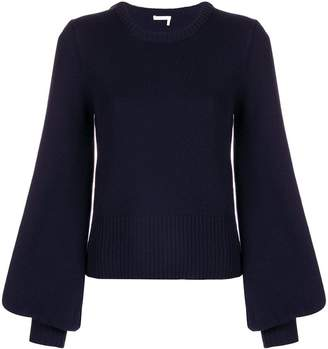 Chloé puff-sleeve sweater