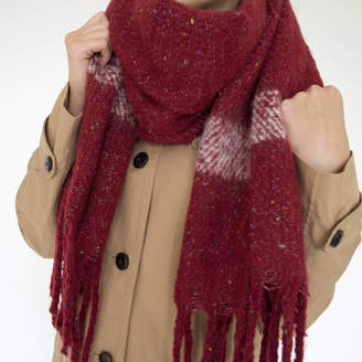 Solesmith Embroidered Women's Winter Blanket Scarf