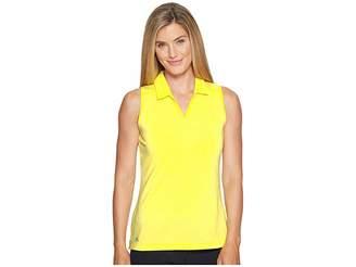 adidas Tonal Stripe Sleeveless Polo Women's Clothing
