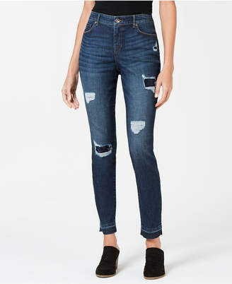 Style&Co. Style & Co Rip & Repair Sequin Curvy Skinny Jeans