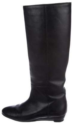 Loeffler Randall Leather Round-Toe Boots