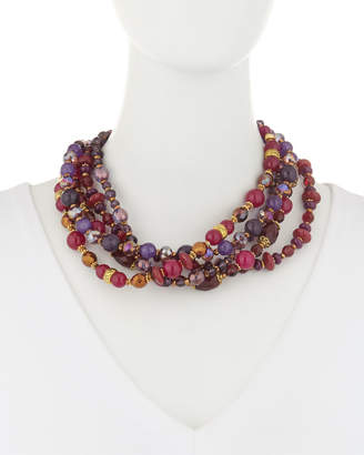 Jose & Maria Barrera Jade Bead Twist Necklace