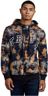 True Religion MENS TIE DYE ZIP UP HOODIE