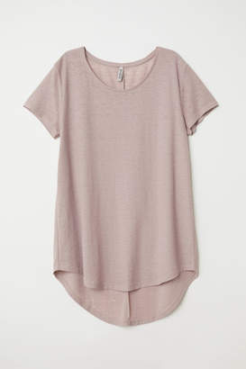 H&M Jersey crepe top - Brown