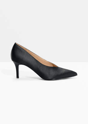 And other stories Pointed Satin Pump