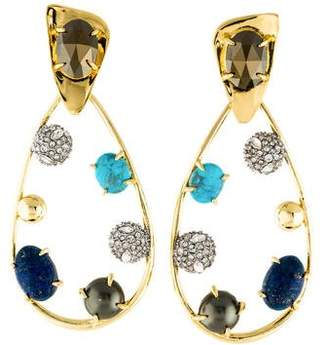 Alexis Bittar Multistone & Crystal Modernist Drop Earrings