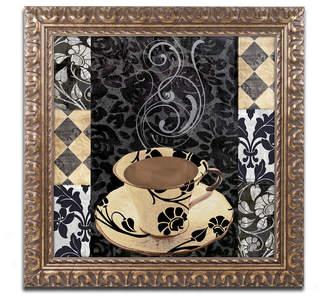 CAFe'NOIR Trademark Global Color Bakery 'Cafe Noir Vi' Ornate Framed Art
