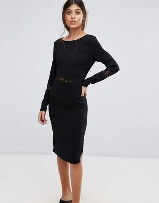 Gestuz Emira Lace Insert Bodycon Dress