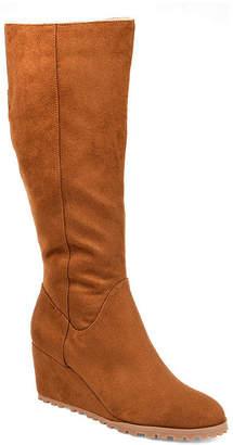 Journee Collection Womens Jc Parker-Wc Wedge Heel Zip Dress Boots
