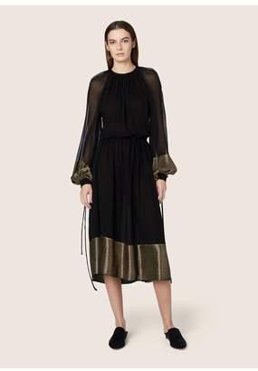Derek Lam Long Sleeve Peasant Dress With Tie Belt