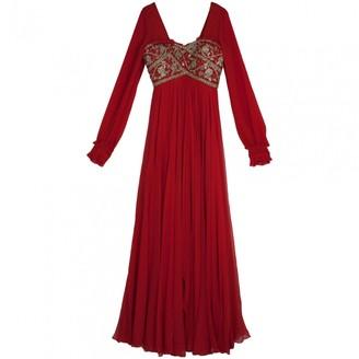 Marchesa Red Silk Dresses