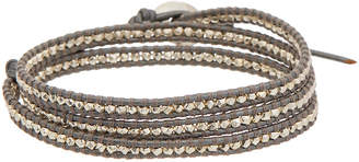 Chan Luu Silver Leather Wrap Bracelet