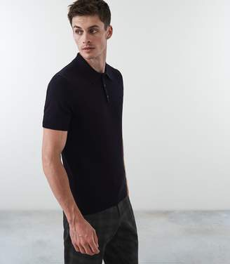 Reiss Our last order date for Christmas has now passed VARSITY SHORT SLEEVED POLO Navy