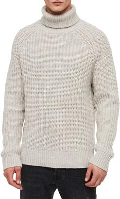 AllSaints Mast Slim Fit Funnel Neck Sweater